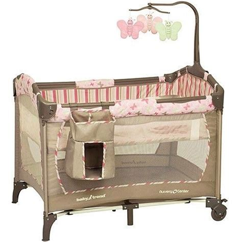 Baby Trend Portable Crib Portable Playard Pack N Play Infant Crib Playpen Bassinet