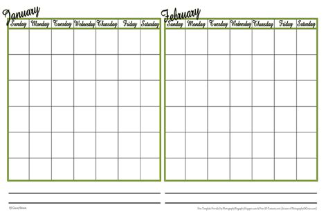 photography blography even more calendar templates