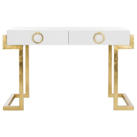 white and gold desk white lacquer desk great white lacquer desk with white