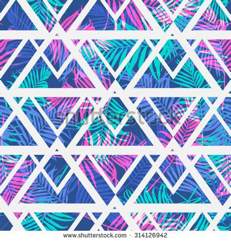 leaf pattern geometric tropical palm leaf pattern geometric backgroundvector