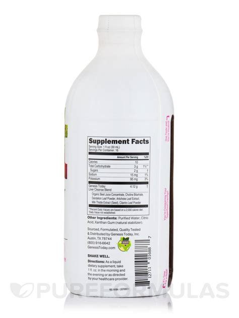 Liquid Cleanse Detox Dr Oz by Liquid Liver Cleanse 16 Fl Oz 473 Ml