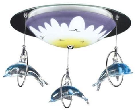 Eclectic Lighting Fixtures Dolphin Splash Ceiling Light Fixture Eclectic Ceiling Lighting By Ls Plus