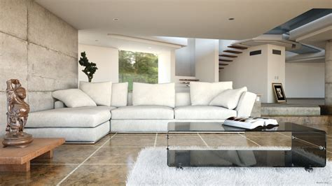 model living rooms modern realistic interior living room 3d model