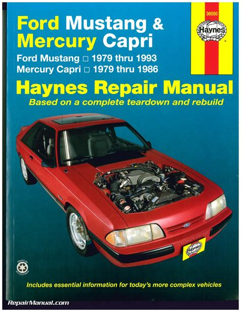 car engine repair manual 1992 mercury capri electronic throttle control haynes ford mustang 1979 1993 mercury capri 1979 1986 auto repair manual