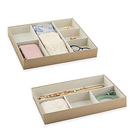bed bath and beyond dresser drawer organizer ersand 174 drawer organizer in gold bed bath beyond