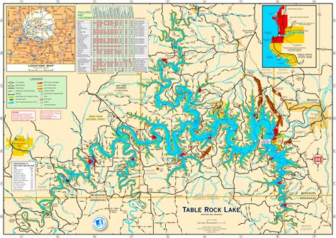 how big is table rock table rock lake map images diagram writing sle ideas