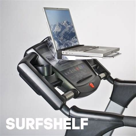 surfshelf treadmill desk laptop and ipad holder surfshelf for a bike or treadmill products i love