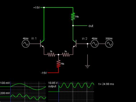 transistor differential lifier differential lifier with transistors circuit simulator
