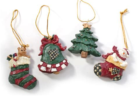 miniature rustic resin christmas ornament christmas