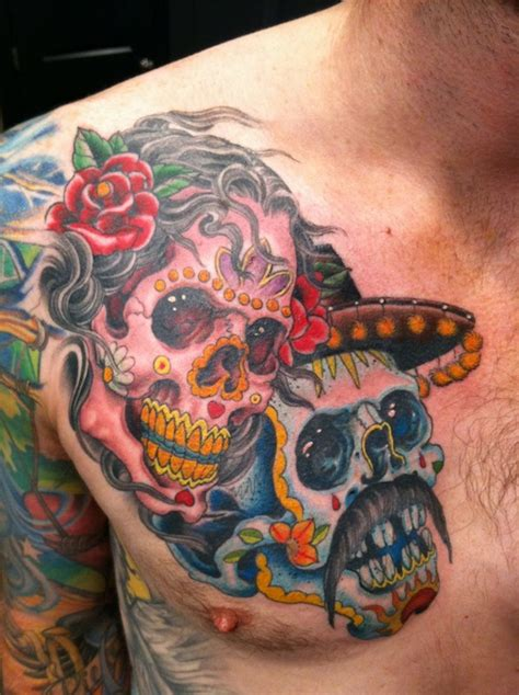 dia de muertos tattoo best dia delos muertos tattoos images styles ideas
