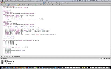 xcode javascript tutorial c xcode oop friend functions tutorial robert metcalfe blog