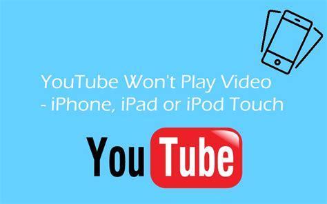 youtube wont play  background  iphone ipad ipod touch