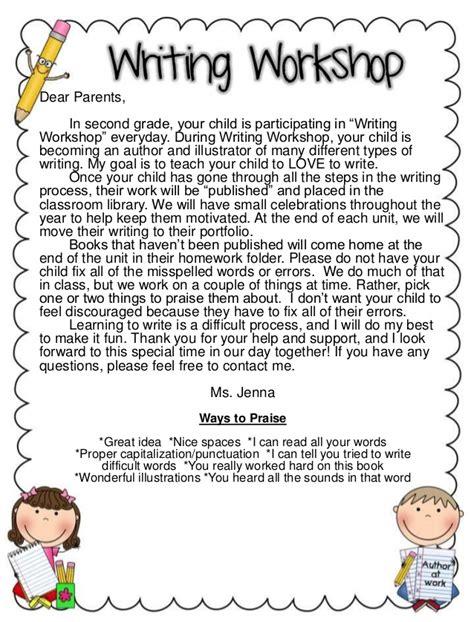 Parent Letter Writing Workshop parents send home letter for workshop