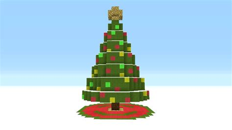 minecraft christmas tree 2017 best template idea