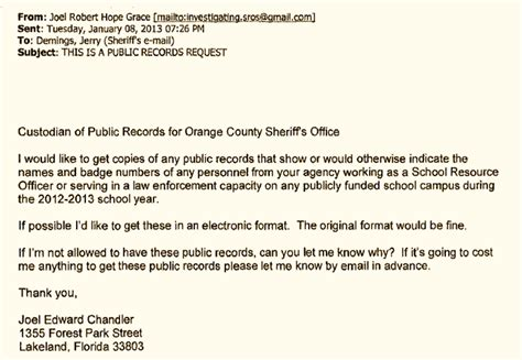 Florida Records Act Orange County Sheriff Jerry Demings Participated In A Scheme To Violate The