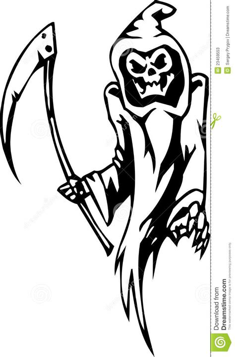 Grim Reaper - Halloween Set - Vector Illustration Stock