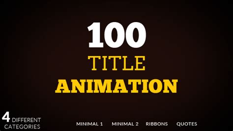title animation after effects template titles archives page 11 of 55 free after effects