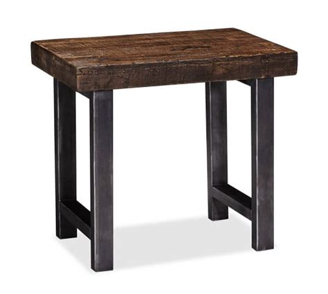 Wooden Side Table Griffin Reclaimed Wood Side Table Pottery Barn