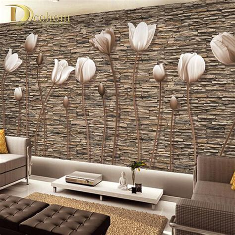 Living Room Wallpaper 3d Background by Large 3d Wall Murals Photo Wallpaper Flower For Living