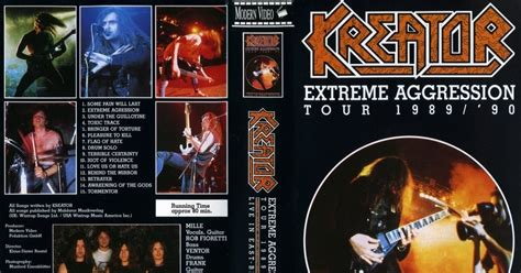 Kreator Aggresion deer5001rockconcert kreator aggression tour 1990