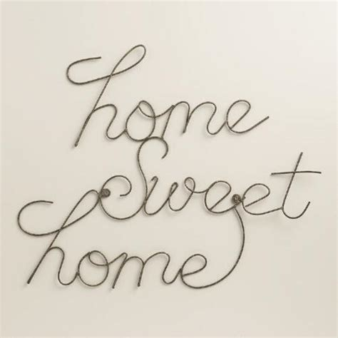 Livaza Wall Decor Home Sweet Home 1 wire home sweet home wall world market