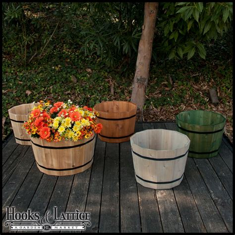 How To Make A Barrel Planter by Half Wine Barrel Planters Cedar Barrel Planters Whiskey