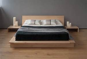 Platform Bed High Ground Diy Platform Bed With Floating Nightstands