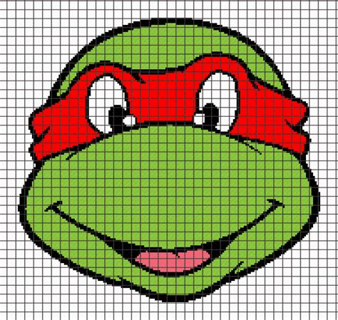 knitting pattern for ninja turtles ninja turtle raphael graphghan pattern by yarnloveaffair