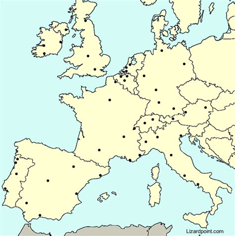 test  geography knowledge western europe major