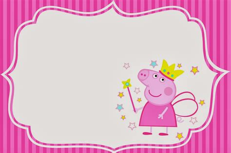 peppa pig template peppa pig invitations template printable templates free