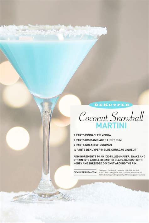 martini snowball check out coconut snowball martini it s so easy to