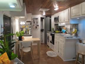 rv renovation ideas the wood ceiling in the rv is actually reclaimed wood