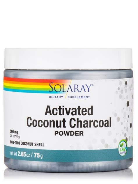 Activated Coco Charcoal Powder 50 Gram Activated Coconut Charcoal Powder Unflavored 2 65 Oz