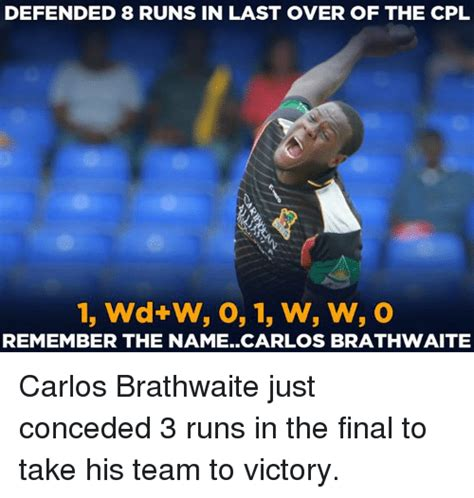 Remember The Name Meme - defended 8 runs in last over of the cpl remember the