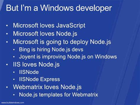 node js template node js for net developers