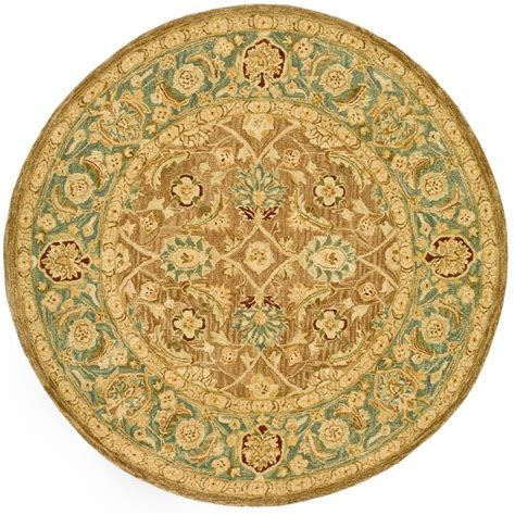 6ft Circular Rugs by Safavieh Anatolia Brown Blue 6 Ft X 6 Ft Area Rug