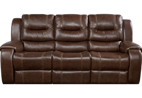 rooms to go sofas veneto brown leather reclining sofa leather sofas brown