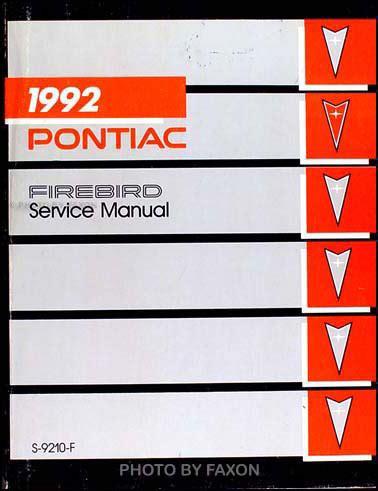 online auto repair manual 1992 pontiac trans sport regenerative braking 1992 pontiac firebird and trans am repair shop manual original