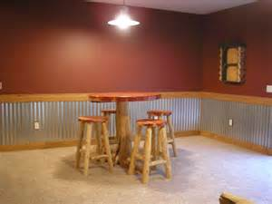 corrugated tin wainscoting basement bar basement tins tin on walls
