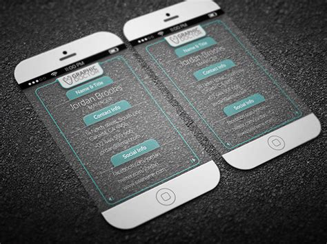 cell phone business card template free iphone 6 style transparent business card template psd