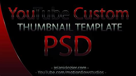 2012 youtube custom thumbnail photoshop psd template youtube