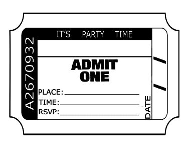How To Make Ticket Invitations For Birthday Parties Weddings Etc Create Your Own Tickets Template Free