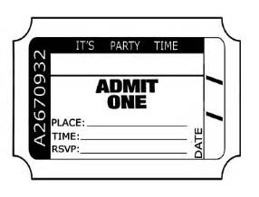 admit one ticket invitation template admit one ticket template free clipart best