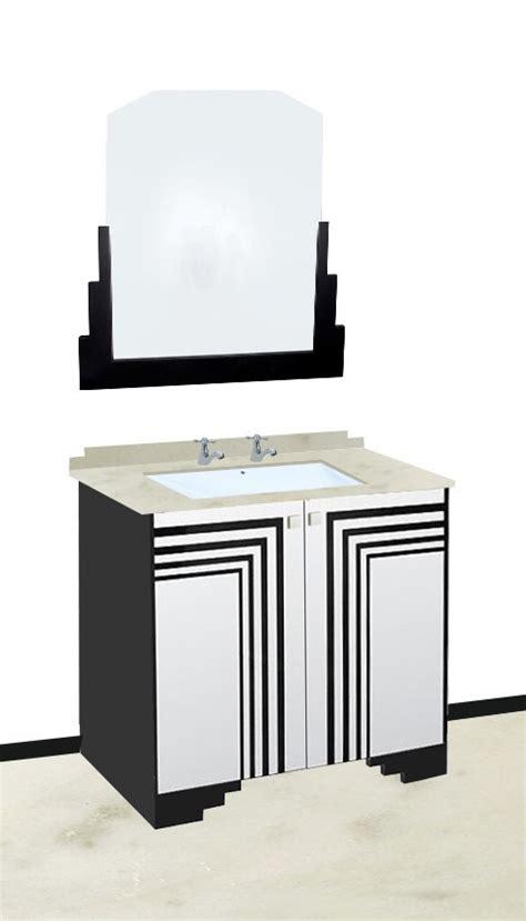 Base Storage Cabinet New Art Deco Skyscraper Style Bathroom Vanity Unit