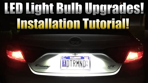 sylvania led license plate light mini bulb led license plate bulb upgrade installation tutorial