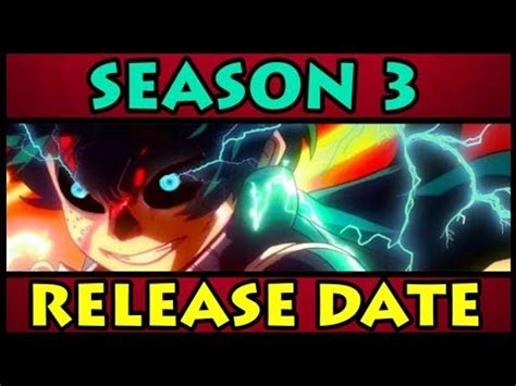 will there be resurrection season 3 release date 2015 my hero academia season 3 release date boku no hero