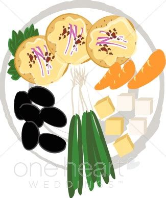 Wedding Food Clipart by Appetizer Tray Clipart Wedding Food Clipart