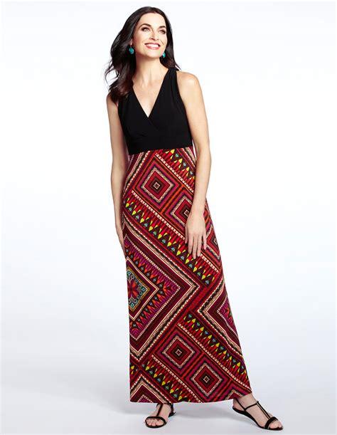 Tartan Maxi Dress Cleo aztec print maxi dress cleo