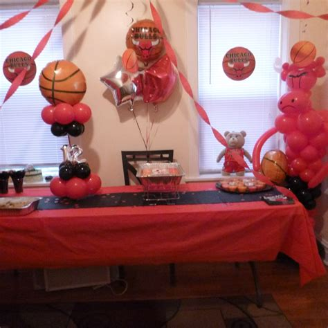 chicago themed decorations 19 best images about chicago bulls birthday on