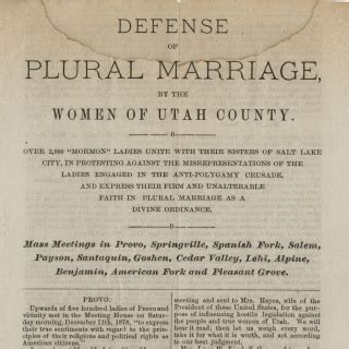 in defense of plural marriage books protected beliefs illegal actions 1879 records of rights